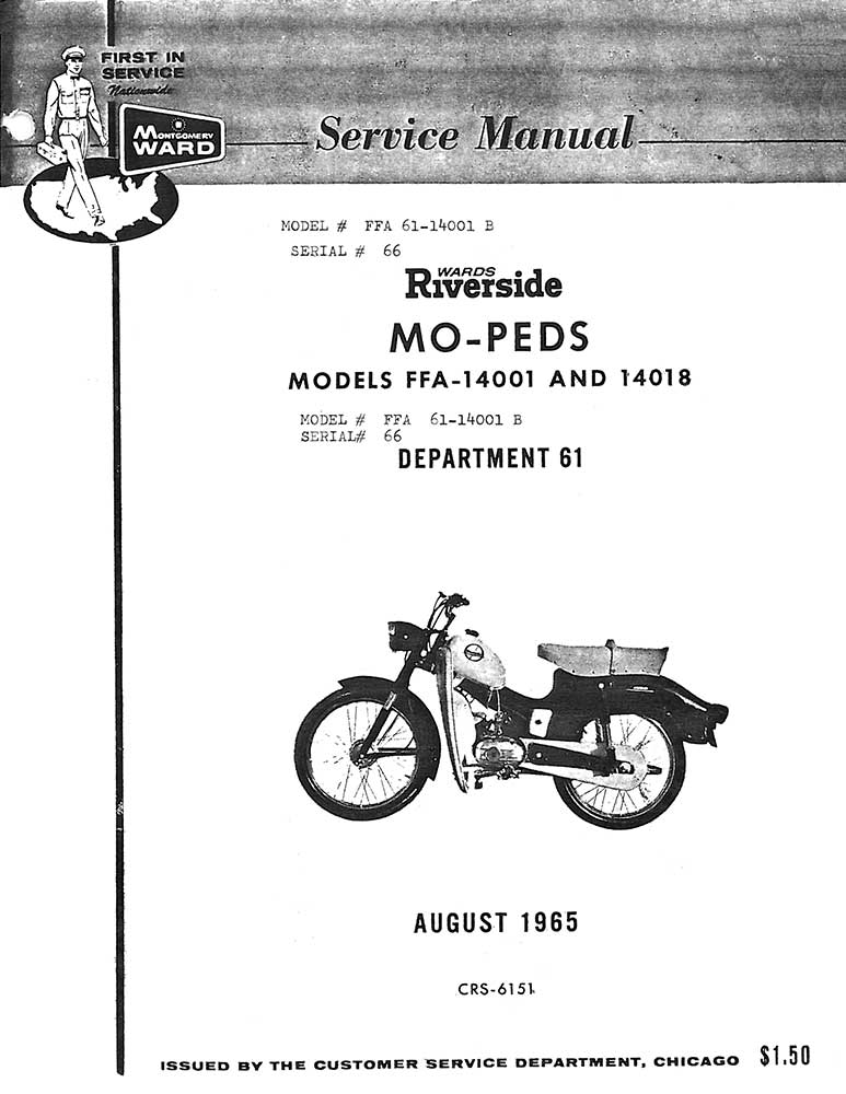 Riverside Mo-Ped Service Manual