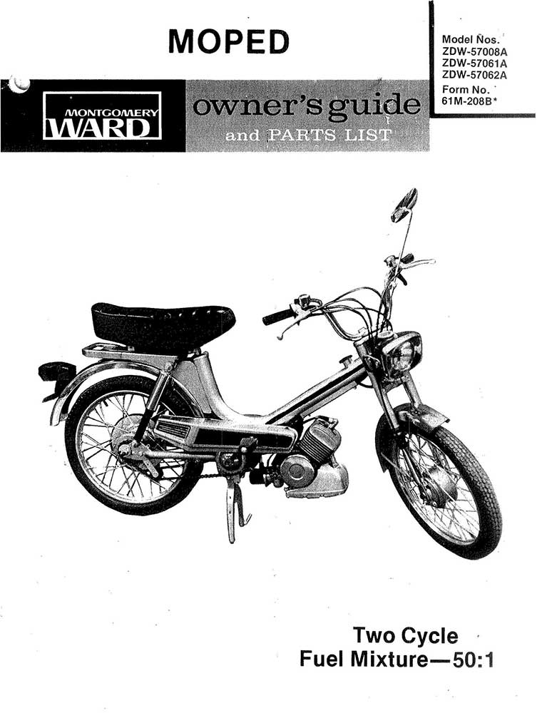 Open Road Moped Owners Guide and Parts List
